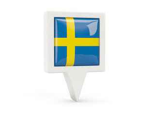 Square flag icon of sweden