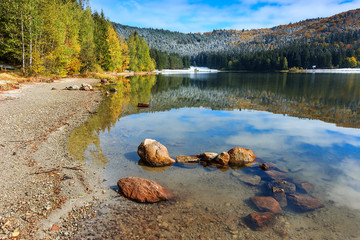 Majestic autumn landscape,St Anna lake,Romania,Europe