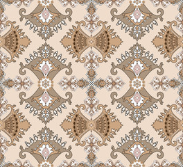 composite seamless pattern in oriental style
