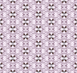 lilac seamless pattern with curls