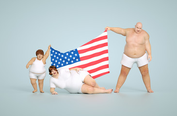 US obesity concept