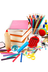 School and office supplies. Back to school.