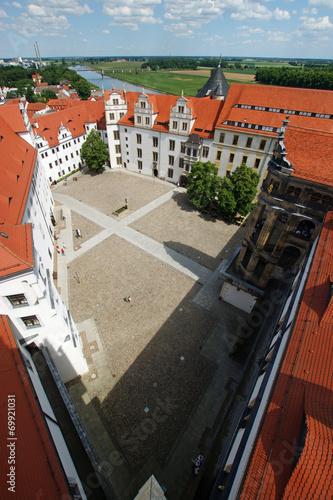 canvas print picture Blick über Torgau