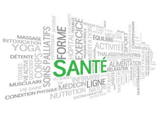 """Nuage de Mots-clés """"SANTE"""" (médecine exercice poids sport tags)"""