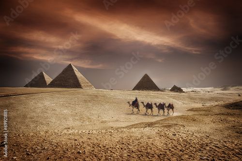 In de dag Egypte Pyramids of Egypt