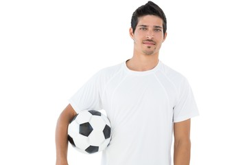 Handsome football fan