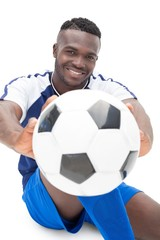 Portrait of a smiling football player