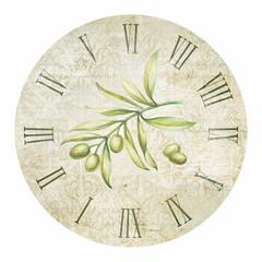 Olive clock.