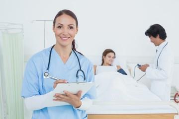 Nurse looking at the camera
