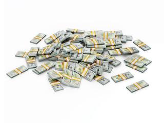 Pile of dollar bundles