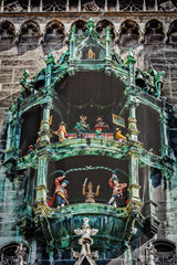 Animated figurines of Rathaus-Glockenspiel