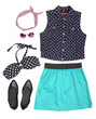 canvas print picture - Outfit of clothes and woman accessories