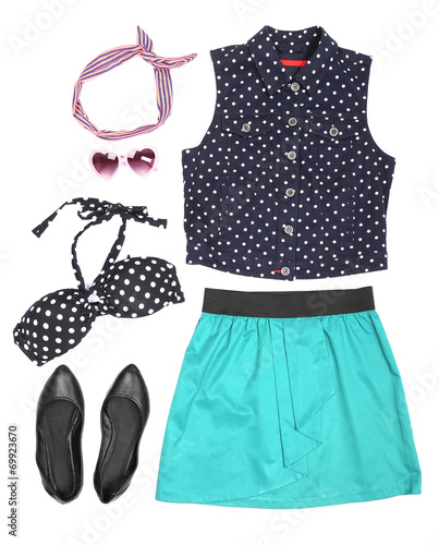 canvas print picture Outfit of clothes and woman accessories