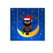 Gufo natalizio sulla luna