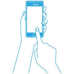 スマートフォンの操作 携帯電話