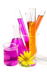 Set of laboratory equipment.