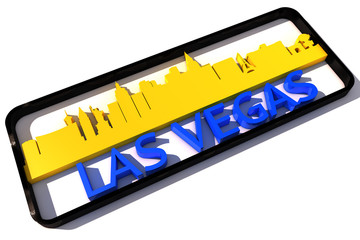 Las Vegas base colors of the flag of the city 3D design