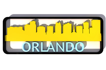 Orlando base colors of the flag of the city 3D design
