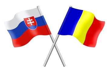 Flags : Slovakia and Romania