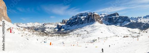 Fototapeta Ski resort panorama