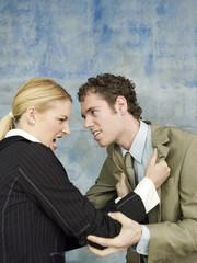 Geschäftsmann und Geschäfts Streit