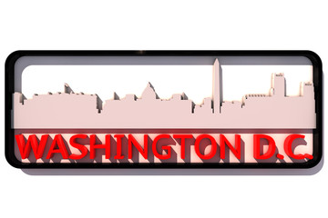 Washington D.C. with the base colors of the flag of the city