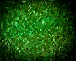 Abstract triangular green background. vector