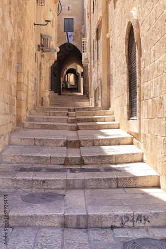 Obraz Narrow street in Jewish Quarter Jerusalem