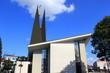 canvas print picture - Die moderne Wenzelkirche in der Stadt Breclav (Tschechien)