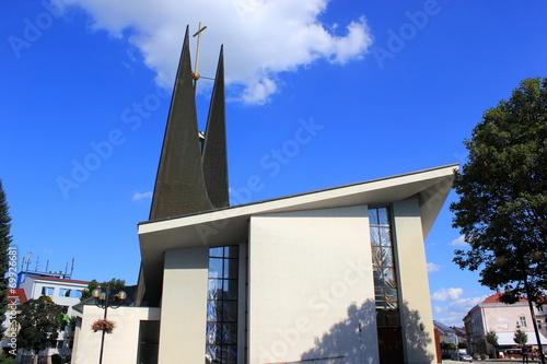 canvas print picture Die moderne Wenzelkirche in der Stadt Breclav (Tschechien)