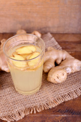 Ginger drink and ginger root