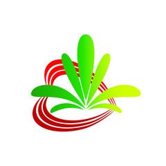 лого сердце цветок