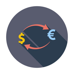 Currency exchange single icon.