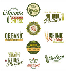 Organic natural product labels