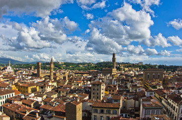 View of Florence with Palazzo Vecchio and other landmarks