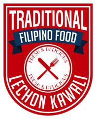 filipino lechon kawali label