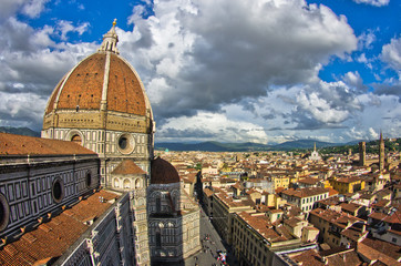 Dome of Santa Maria del Fiore cathedral in Florence, Tuscany