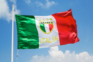 Italy flag waving in the wind