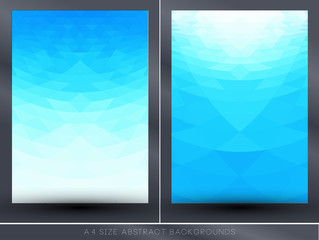 Abstract blue perspective backgrounds
