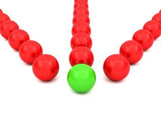 3D spheres - concept