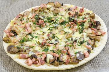 pizza, food, mushroom, cheese,  snack, gourmet, pastry