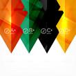 Hi-tech geometric futuristic business background