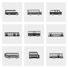 Bus icons set. Public transportation