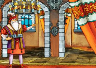 The king - fairy tale scene