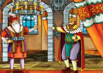 Two kings - fairy tale scene
