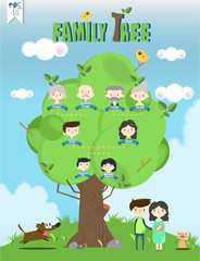 family tree template info graphics vector/illustration