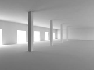 Empty Room white 3D