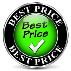 Vector best price icon