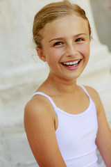 Ballet, ballerina - young ballet dancer in Venice, Italy