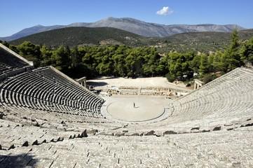 le péloponnèse. le theatre d'Epidaure.